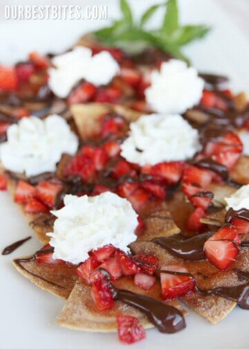 Strawberry & Chocolate Nachos - Our Best Bites