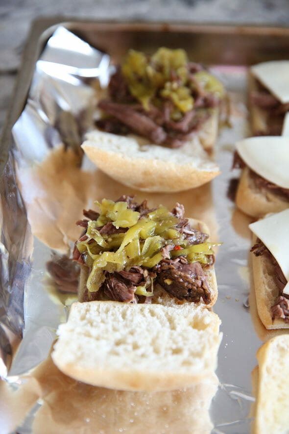 Pepperoncini Beef Sandwhiches