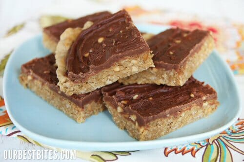 Chocolate-Frosted Peanut Butter Cookie Bars {Aka: School Lunch Peanut ...