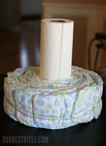 How To Make A Diaper Cake Centerpiece Our Best Bites