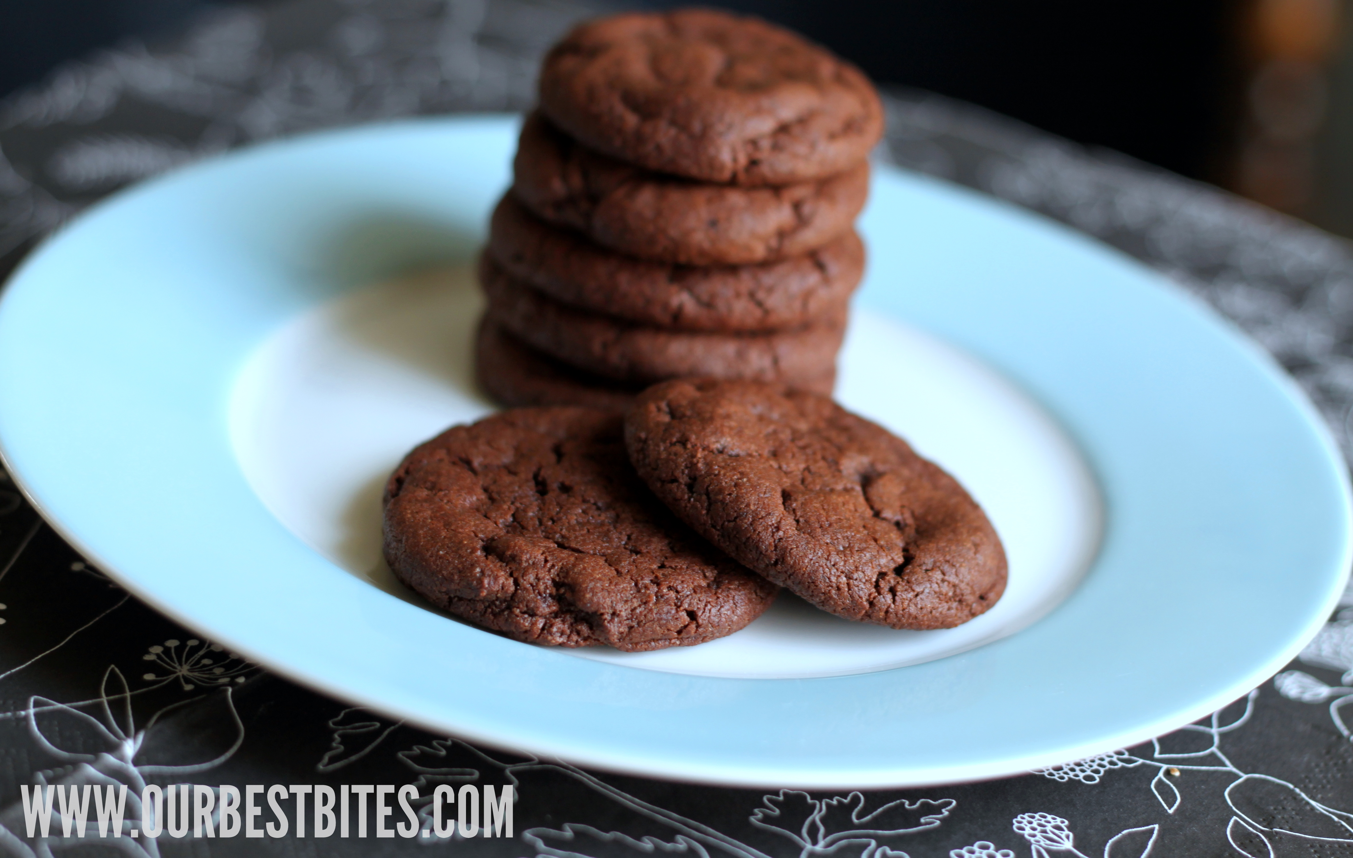 Two-Bite Nutella Chocolate Cookies Recipe — Dishmaps