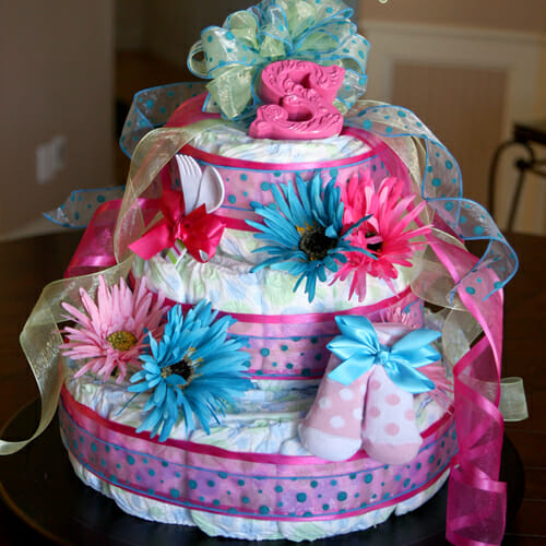 How To: Make a Diaper Cake Centerpiece