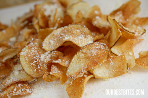 homemade potato chips 3 sliced potato