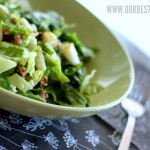 Pear & Blue Cheese Salad with Candied Pecans
