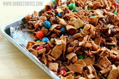 Sweet & Salty Caramel Snack Mix - Our Best Bites