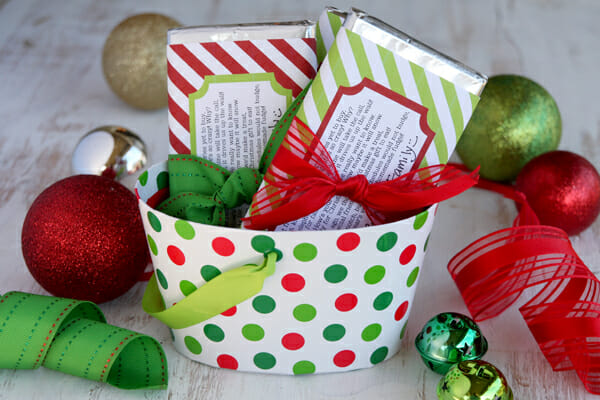 photo relating to Free Printable Christmas Candy Bar Wrappers called Sweet Bar Wrapper Vacation Printable Our Easiest Bites