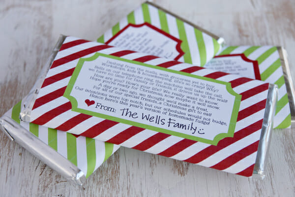Candy Bar Wrapper Holiday Printable - Our Best Bites