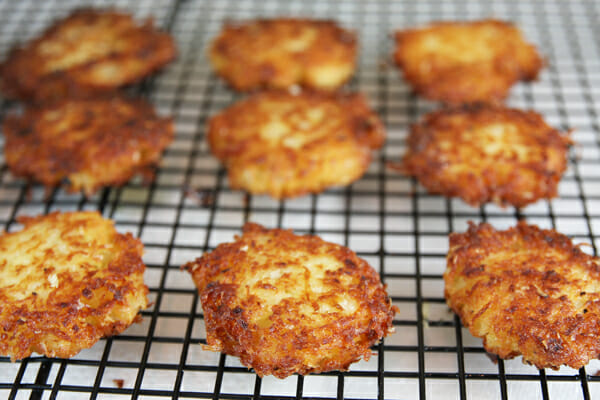 Crispy Yukon Gold Latkes {Potato Pancakes} - Our Best Bites