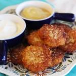Crispy Yukon Gold Latkes {Potato Pancakes}