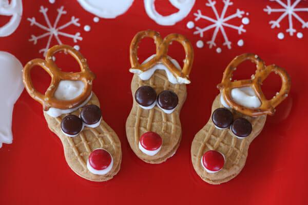 Easy reindeer cookies our best bites for Easy christmas food crafts