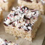 Peppermint Bark Rice Krispie Treats