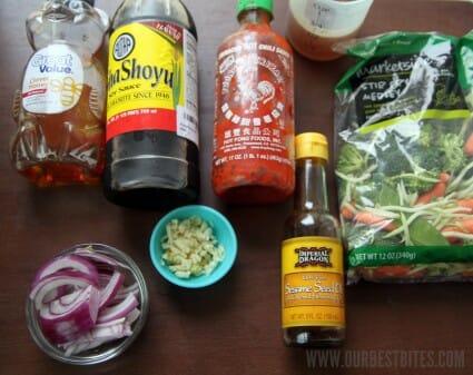 Easy Veggie Strir Fry Ingredients
