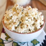 Herbed Garlic-Parmesan Popcorn