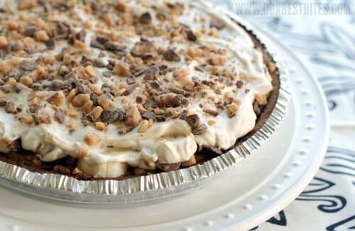 Dulce de Leche Banana Toffee Pie {Happy Birthday, Our Best Bites!}