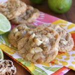 Lime-Coconut White Chip Macadamia Nut Cookies