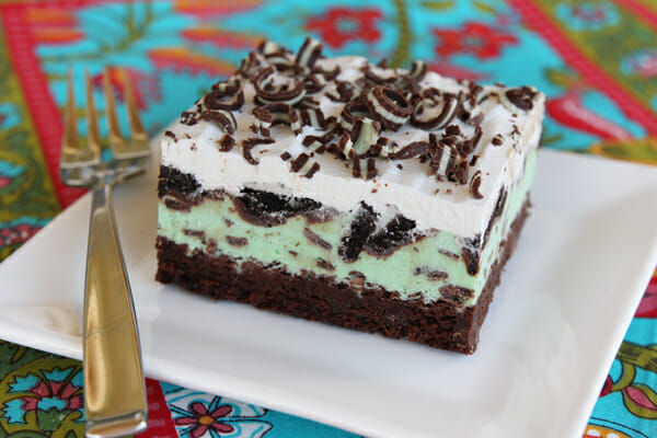 Mint Chip Ice Cream Brownie Squares Our Best Bites