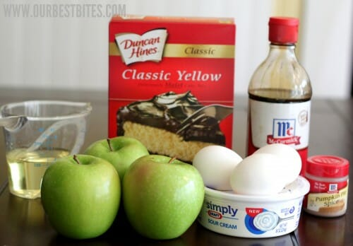 Ingredients for Apple Cinnamon Coffee Cake Muffins