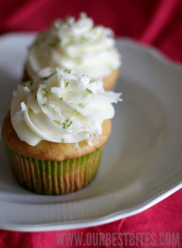 Coconut-Lime Cupcakes - Our Best Bites