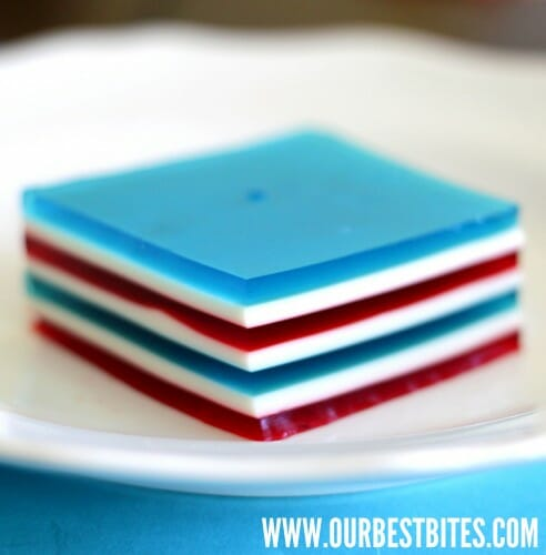 Layered Jell-O {4th of July Edition!}