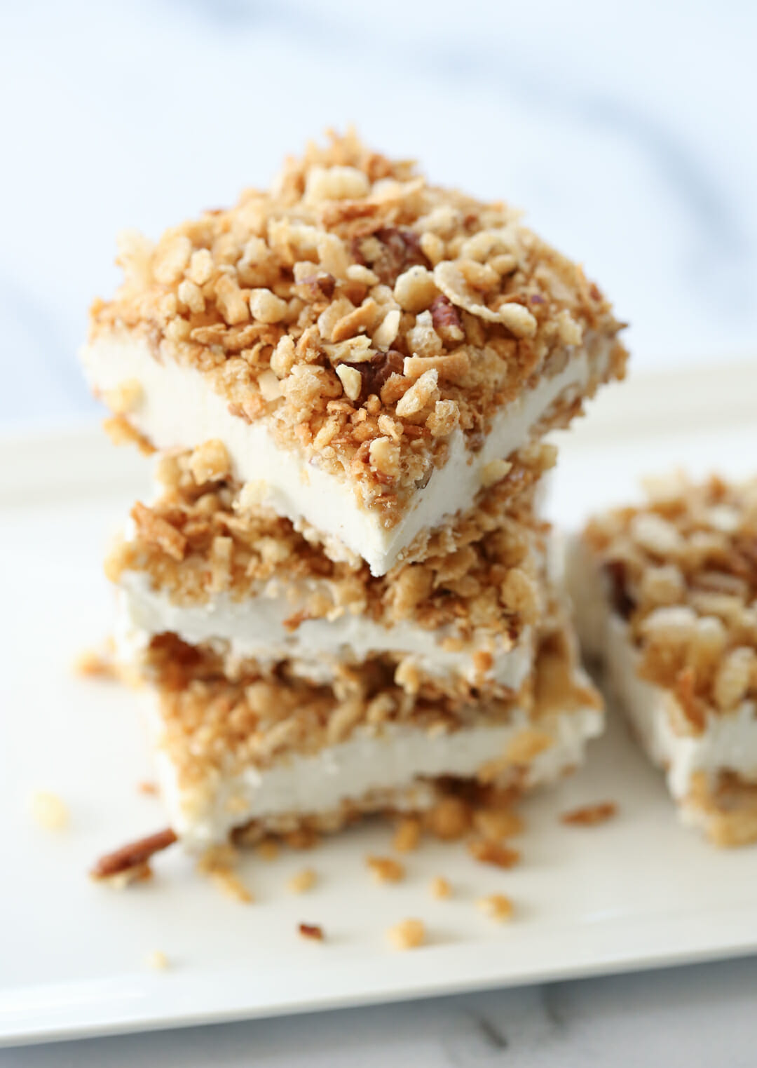Stacked Fried Ice Cream Bars