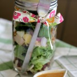 Smoked Paprika Vinaigrette + Salad in a Jar