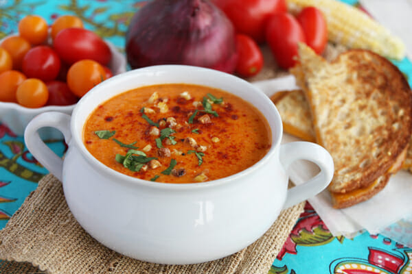 Late-Summer Roasted Tomato Soup With Fregola And Kale Recipes ...
