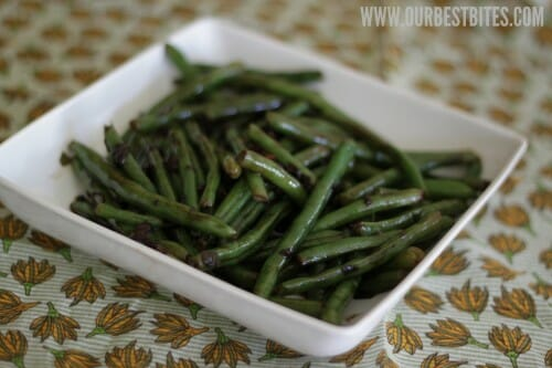 Green Beans with Balsamic Butter