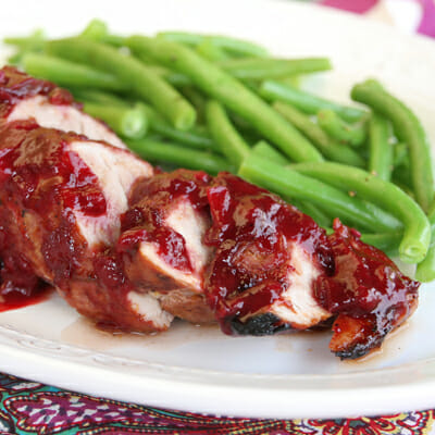 Roasted Pork Tenderloin with Plum Sauce
