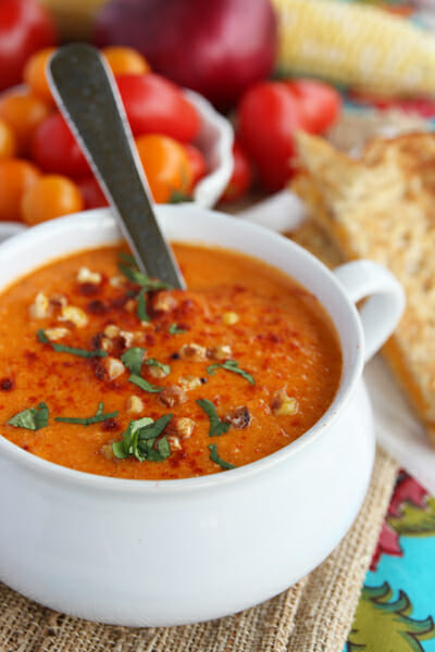 ... soup roasted tomato soup fresh tomato soup with roasted corn guacamole