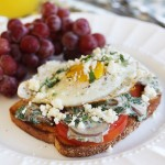 Eggs on Toast with Creamy Spinach Sauce