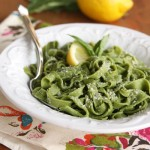 Homemade Spinach-Basil Pasta