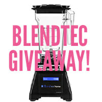 Blendtec Blender + Twister Jar Giveaway (x2)!