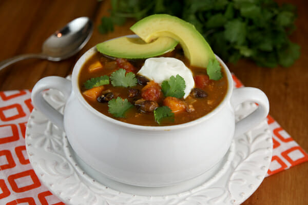 Delicious Black Bean and Sweet Potato Turkey Chili