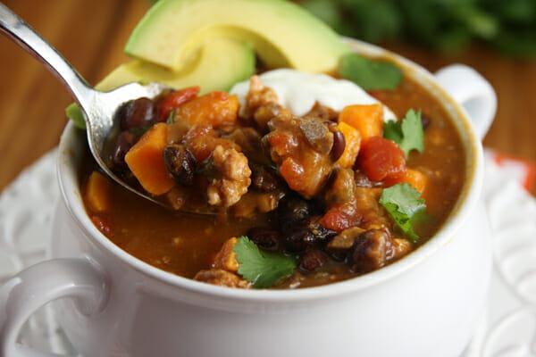 Black Bean and Sweet Potato Turkey Chili