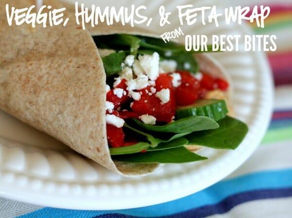 Veggie, Hummus, & Feta Wrap