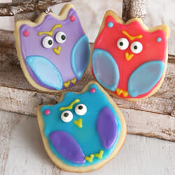 Owl Sugar Cookies {With a Trick!)