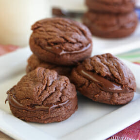 Four Ingredient Nutella Sandwich Cookies