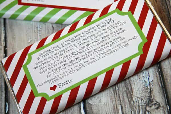 Peppermint-Fudge Cupcake Jars: Cute little printable labels adorn ...