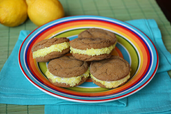poppy sandwich cookies ginger spice sandwich cookies with lemon cream ...