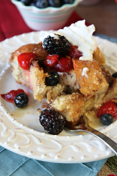 Overnight French Toast with Berries from Our Best Bites