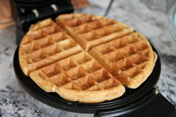 Cooked Whole Grain Waffle