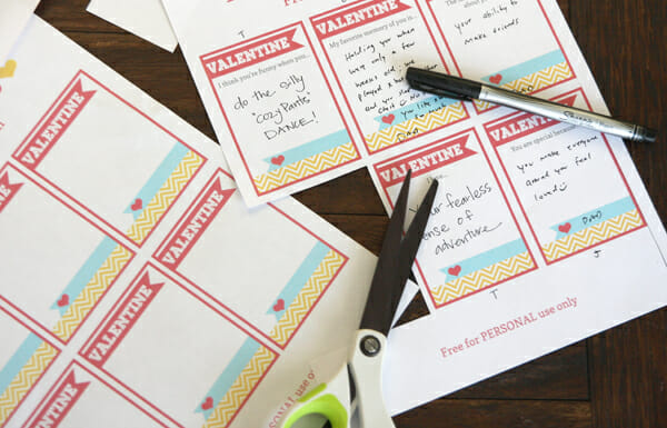 Cutting out Love Notes