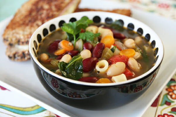 Healthy Minestrone Soup from Our Best Bites