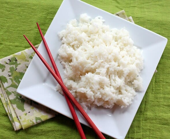 Easy, salty, tangy, sweet sushi rice from Our Best Bites.