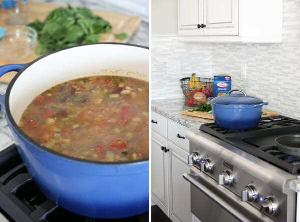 Minestrone Soup Simmering
