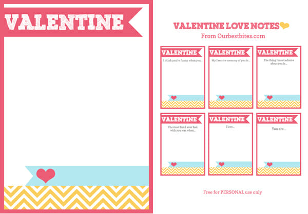 Valentine Printables from Our Best Bites