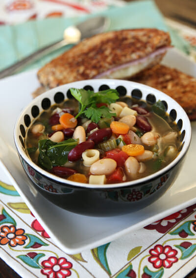 Veggie Packed Minestrone Soup from Our Best Bites