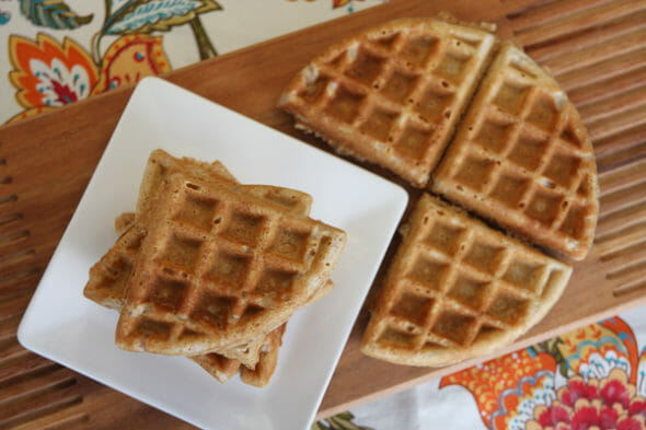 Healthy Whole Grain Waffles {3 Ways!} - Our Best Bites