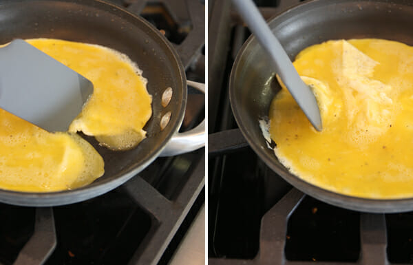 making an omellete