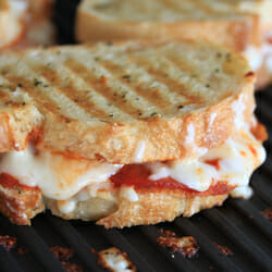 Cheesy Grilled Pizza Sandwich
